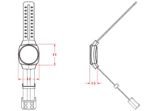 防拆定位腕带尺寸图