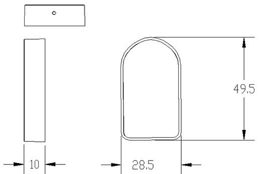 有源RFID定位器产品尺寸