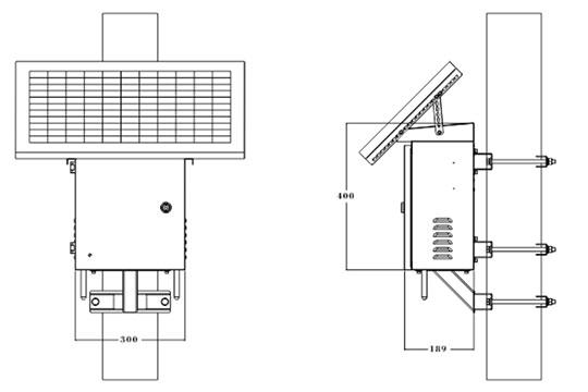 太阳能有源RFID接收器尺寸图1