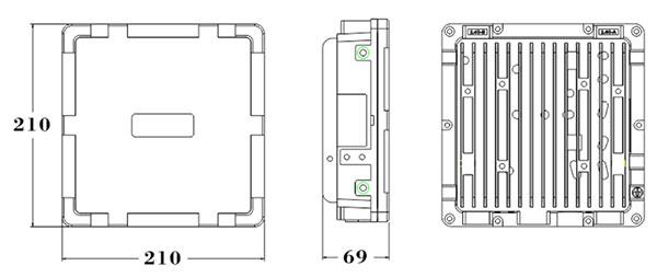 RFID接收设备产品尺寸