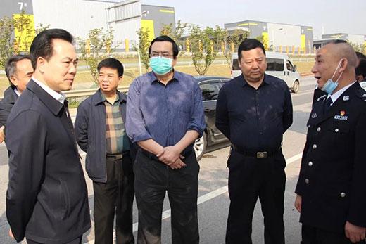 钟艺兵副厅长赴长沙监狱新址实地考察
